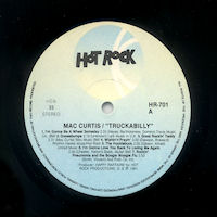Mac Curtis - Truckabilly LP 1981 Label